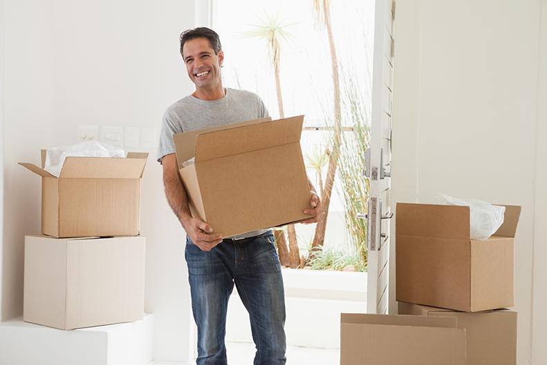 man holding a box