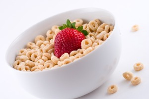 cereal with strawberries