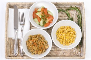 portions of food in bowls