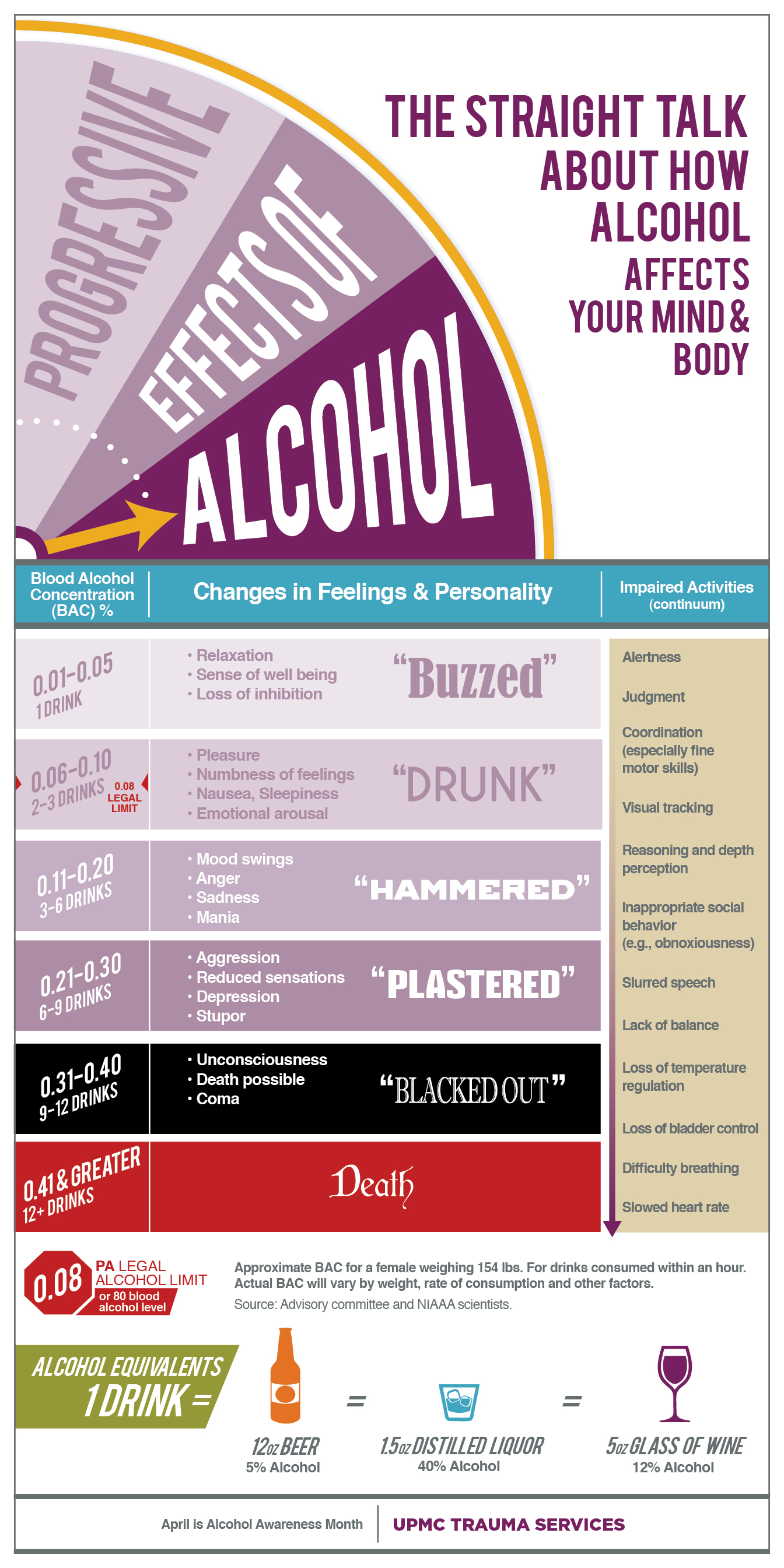 Effects of Alcohol on Your Mind and Body Infographic