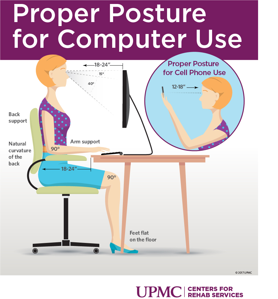 Learn how to maintain proper posture at your desk