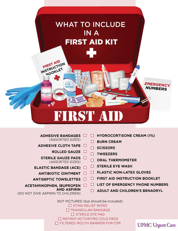 stocked first aid kit nearby these kits can be purchased at your local ...