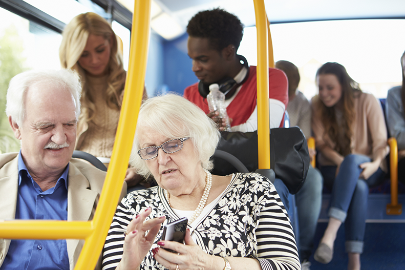 texting on bus