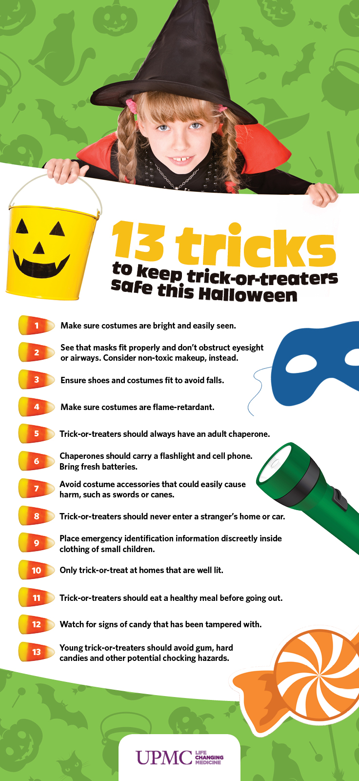 Tips to keep your trick-or-treaters safe this halloween.