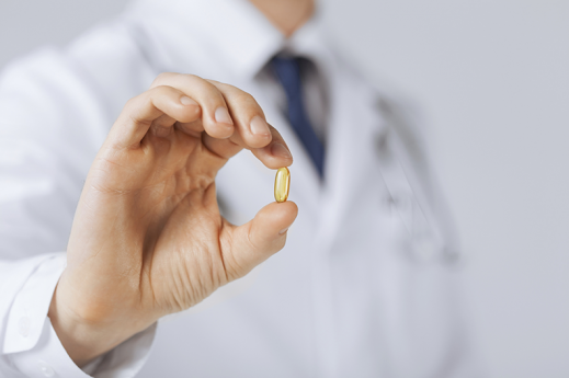 doctor with pill