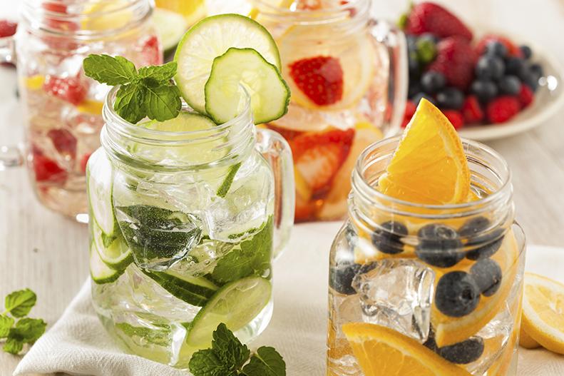water fruit jars
