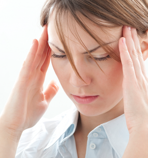 girl with bad headache