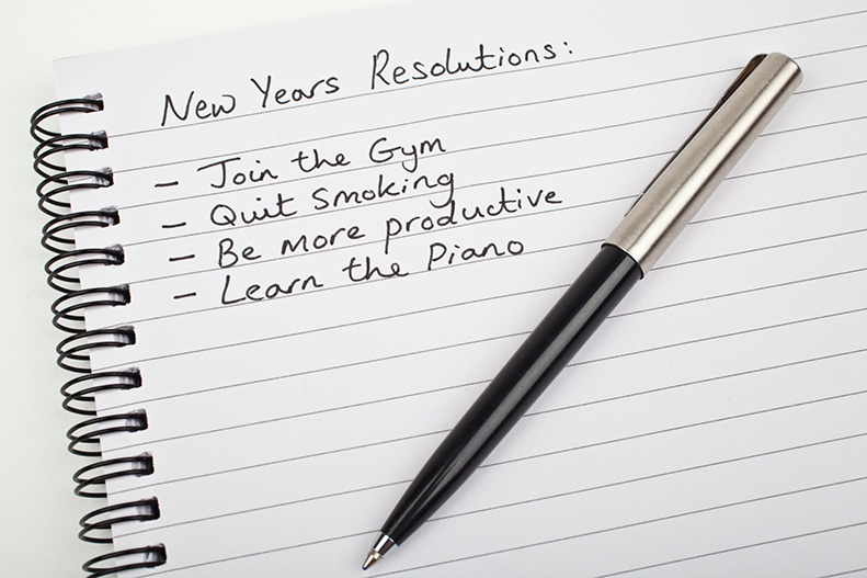 new years resolutions list