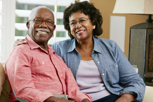 older couple with glasses