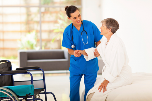 stroke patient with nurse