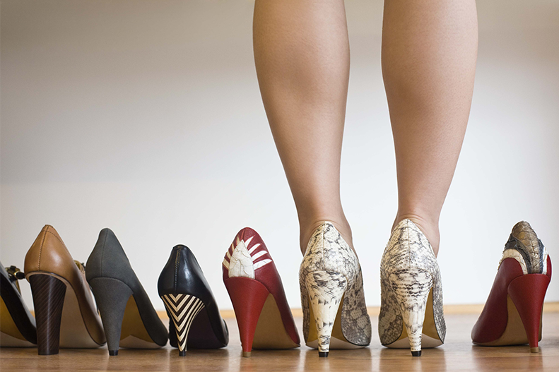 woman and high heels