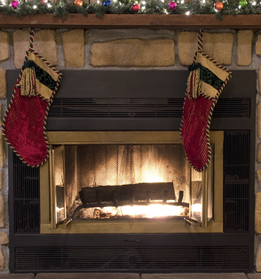 fireplace christmas