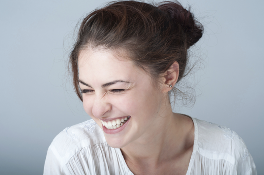 girl laughing