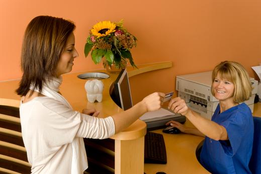 giving health insurance card