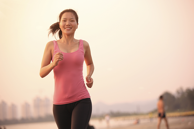 Woman runner running