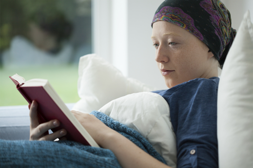 cancer patient reading