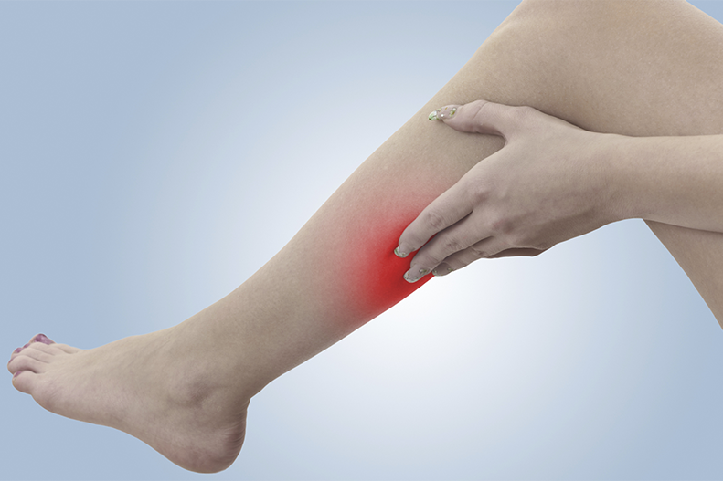 What should I do if I think I have a blood clot in my leg?
