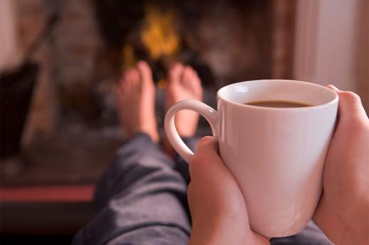 drinking tea relaxing