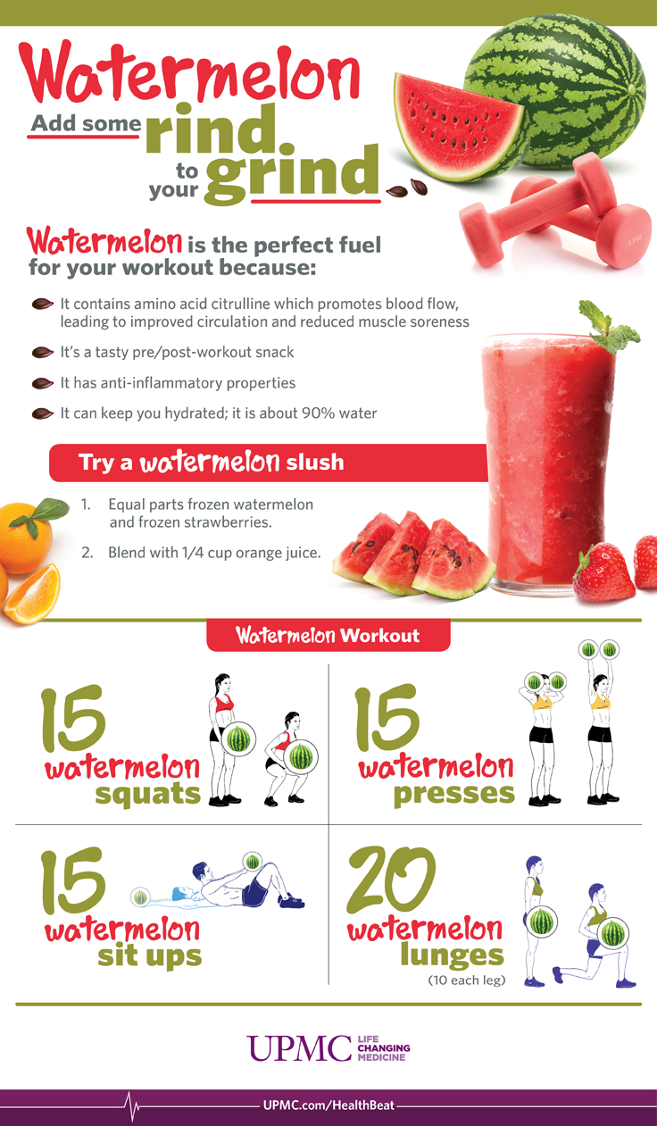 Watermelon is the perfect fuel for your workout.