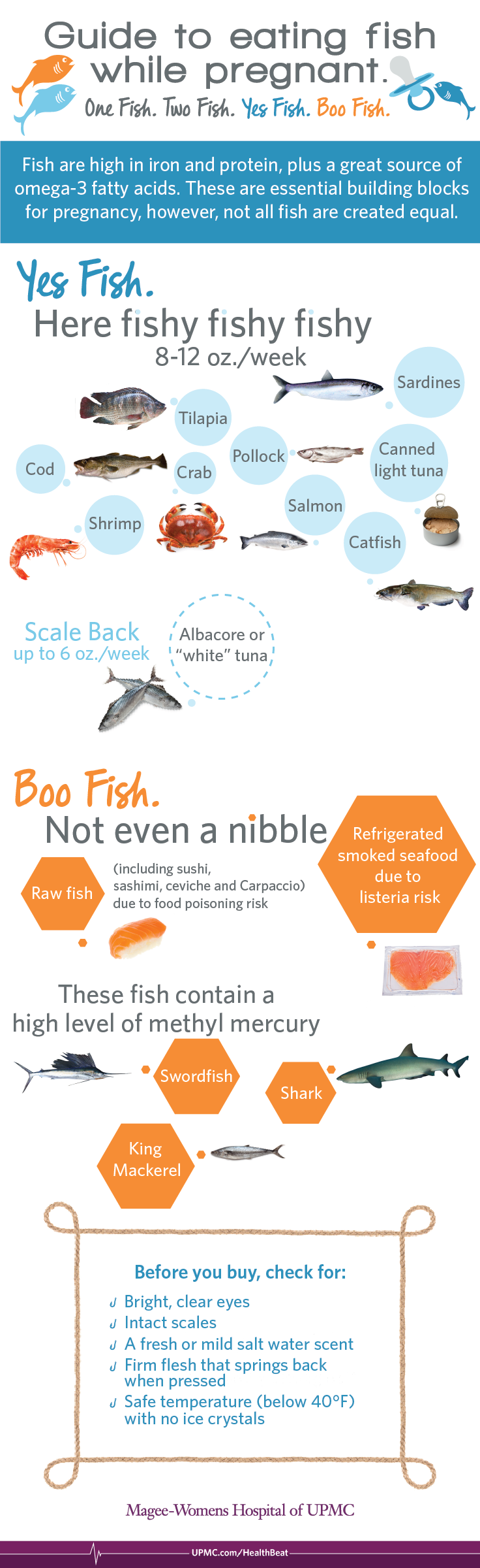 Infographic eating seafood during pregnancy upmc for Safe fish during pregnancy