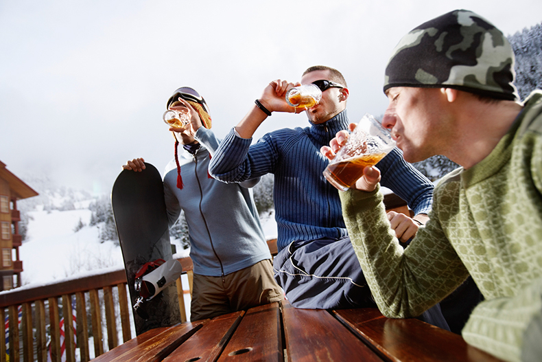 drinking outside cold