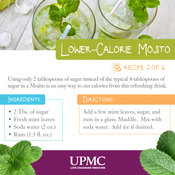 Learn how to make this low-calorie mojito recipe