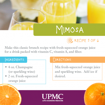 Try this healthy mimosa recipe to cut calories