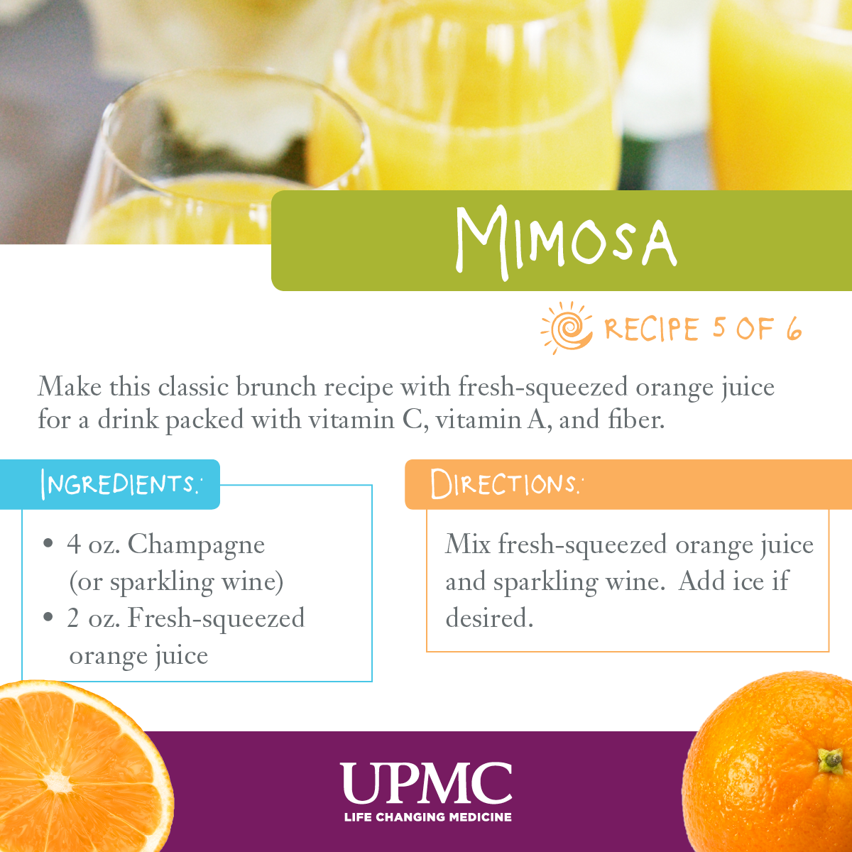 Sensational Healthy Mimosa Recipe Low Calorie Drinks Upmc Healthbeat Short Hairstyles For Black Women Fulllsitofus