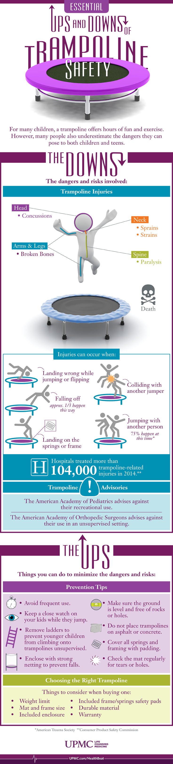 Stay safe while you're jumping with this trampoline tips for families