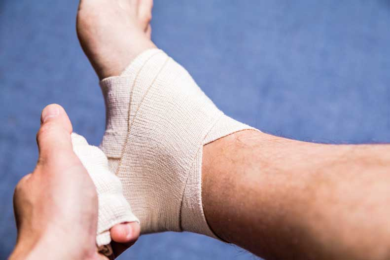 Find out the steps to wrap your ankle