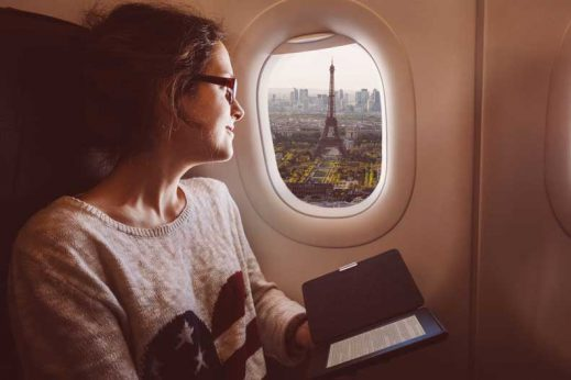 Find tips on staying healthy during long flights
