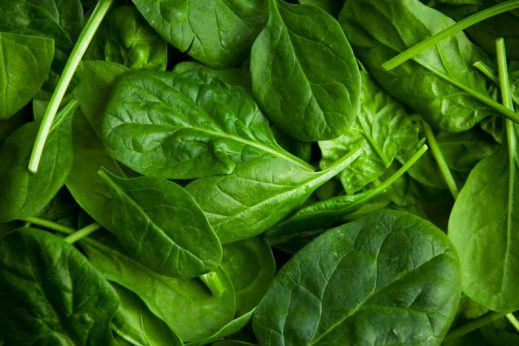 Spinach is a healthy food