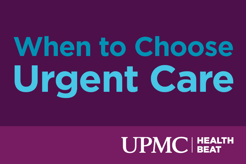 Learn when you should go to urgent care