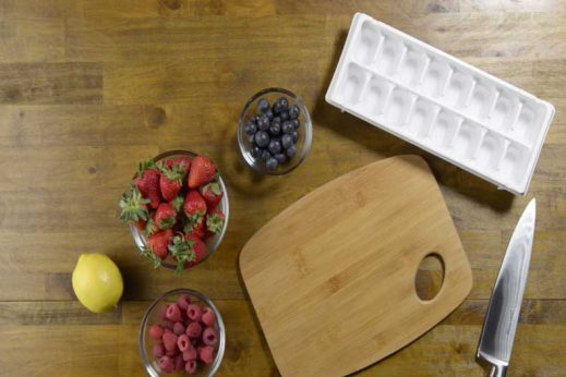 Learn how to make fruit infused ice cubes