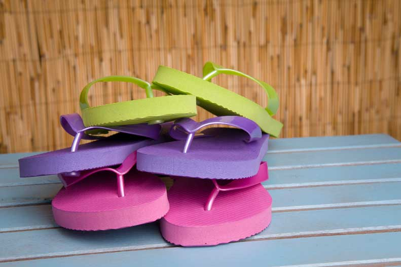 Learn more about health and safety issues associated with flip flops