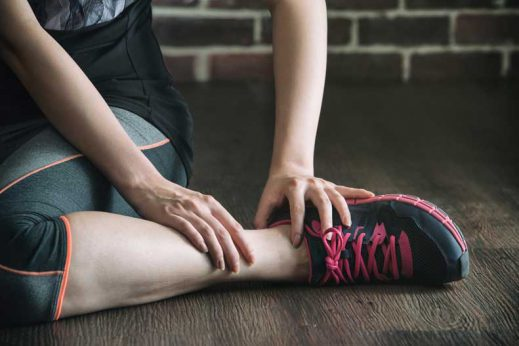 Learn more about the treatment of sprained ankles