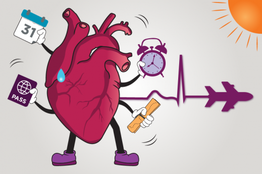 Learn how to ensure your vacation is heart healthy