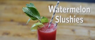 Learn how to make a watermelon slushie with this recipe