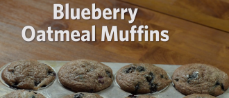 Video Recipe: Blueberry Oatmeal Muffins