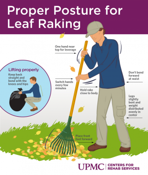 Avoid back pain during leaf raking with these tips
