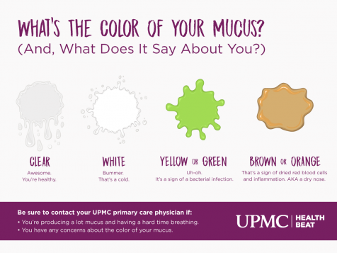 What does the color of your mucus mean?