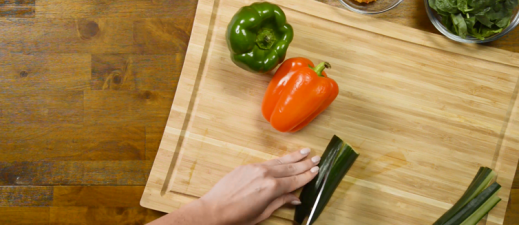 Learn more about how to make this hummus and veggie wrap