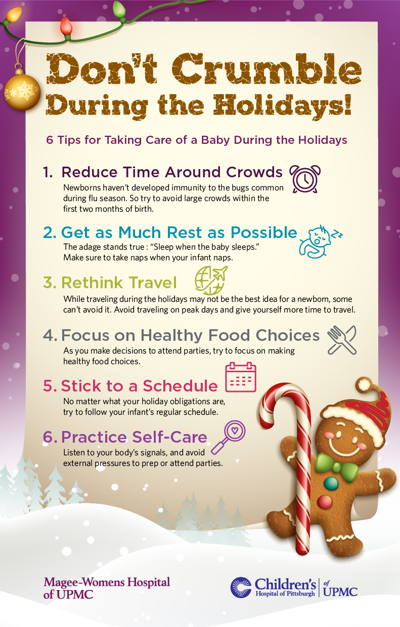 Learn about how to care for a newborn during the holiday season
