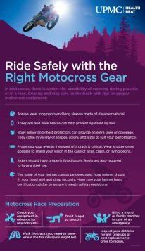 Learn more about how to stay safe and prevent injuries in motocross