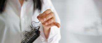 Learn more about how stress affects hair loss.