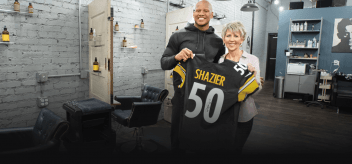 Ann Marie Tarasovitch and Ryan Shazier