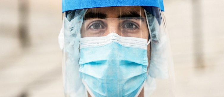 Medical Professional Wearing PPE