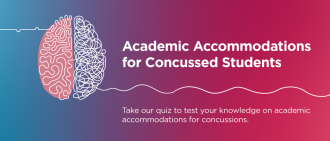 Quiz: Academic Accommodations for Concussed Students